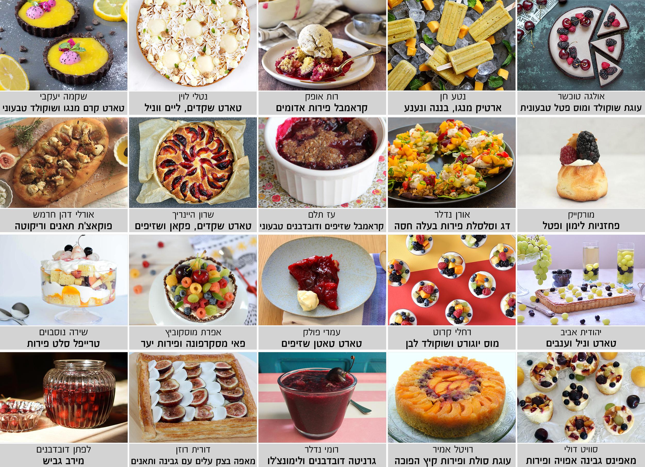 פרויייקט מבשלים ביחד - פירות קיץ